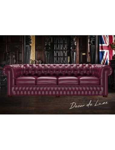 Sofá Chesterfield Original de 4 plazas piel Old English