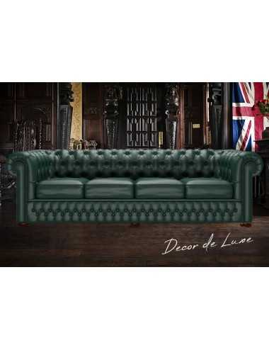 Sofá Chesterfield Original de 4 plazas piel Birch & Shelly